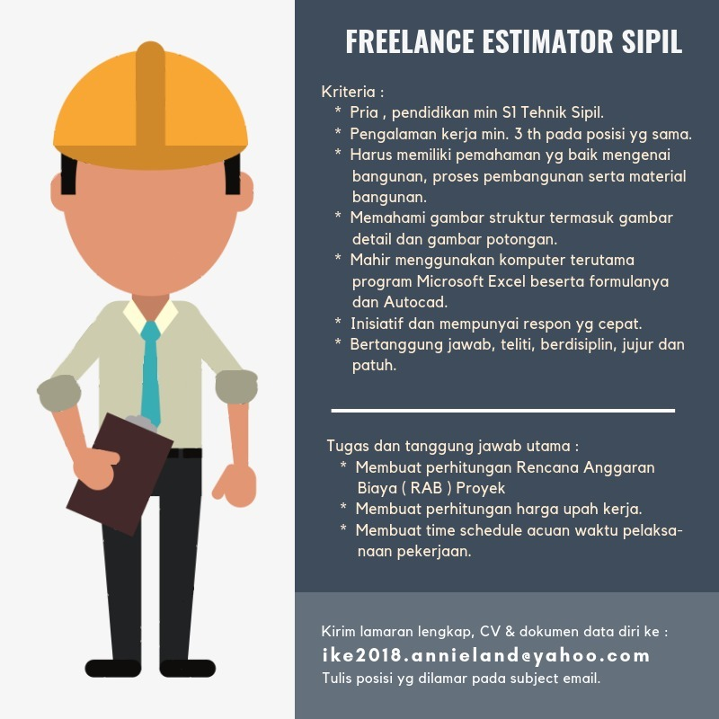 Freelance Estimator Sipil